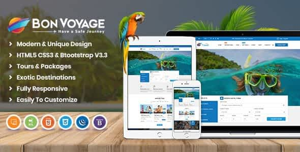 Bon Voyage HTML Template Nulled