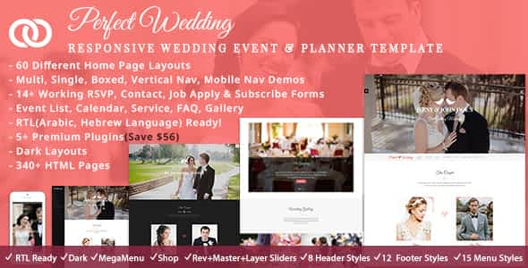 Perfect Wedding HTML Nulled