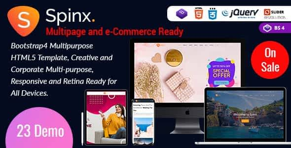 Spinx HTML - One Page Parallax Nulled
