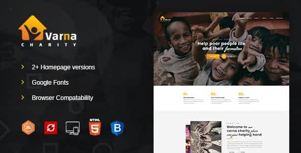 Varna Charity HTML Template Nulled