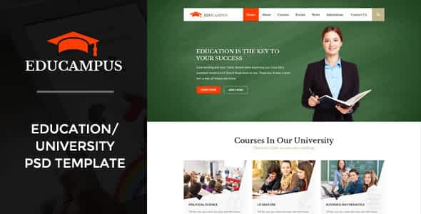 Educampus | Education/University PSD Template Nulled