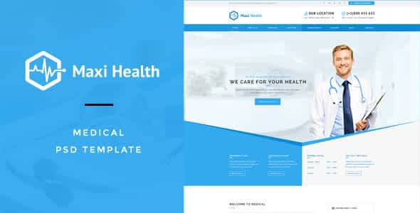 Maxi Health : Medical & Health PSD Template Nulled
