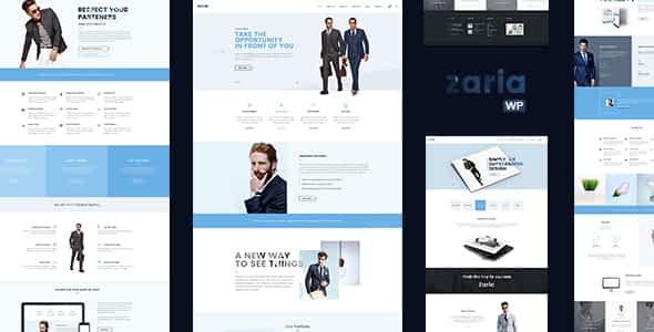 Zaria – Business Consulting WordPress Theme Nulled