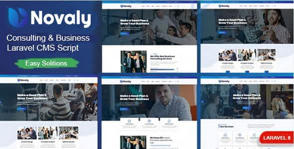 Novaly - Consulting & Business Laravel CMS Script Nulled