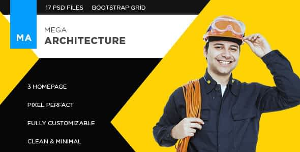 Mega Architecture - PSD Template Nulled