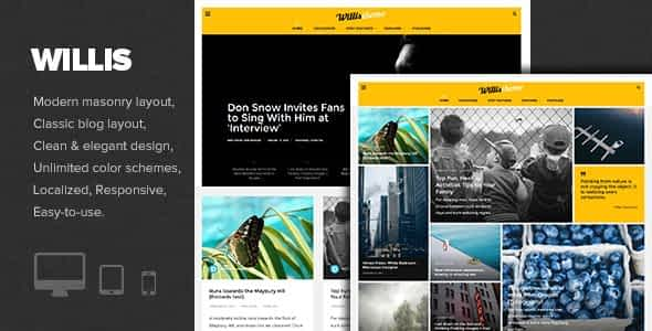 Willis - Modern Personal Blog Theme Nulled