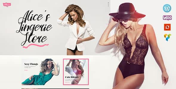 Alice's   Lingerie Store and Fashion Boutique WordPress Them... Nulled
