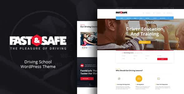Fast & Safe | Driving School WordPress Theme Nulled