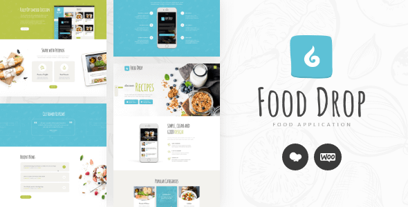 Food Drop | Meal Ordering & Delivery Mobile App WordPress Th... Nulled