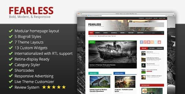 Fearless: Bold, Modern, & Responsive Multipurpose Magazine Nulled