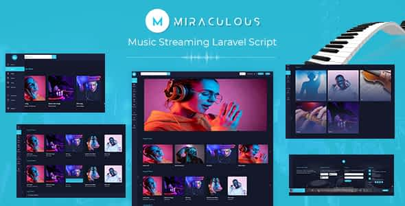 miraculous - Music Streaming Laravel Script Nulled