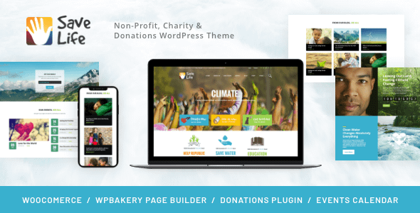 Save Life | Non-Profit, Charity & Donations WordPress Theme Nulled