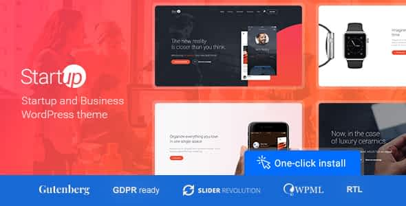Startup Company - WordPress Theme for Business & Technology Nulled