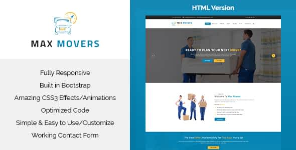 Max Movers - Responsive HTML Template Nulled