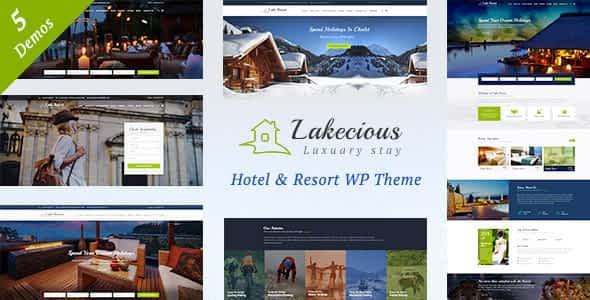 Lakecious : Resort and Hotel WordPress Theme Nulled