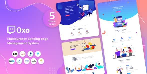 OXO - Multipurpose Landing page CMS Nulled