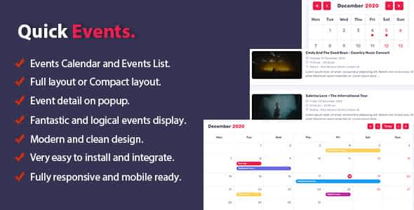 Quick Events For PHP Nulled