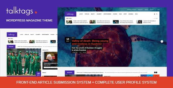 Talktags - WordPress Magazine Theme + Front-end Article Subm... Nulled