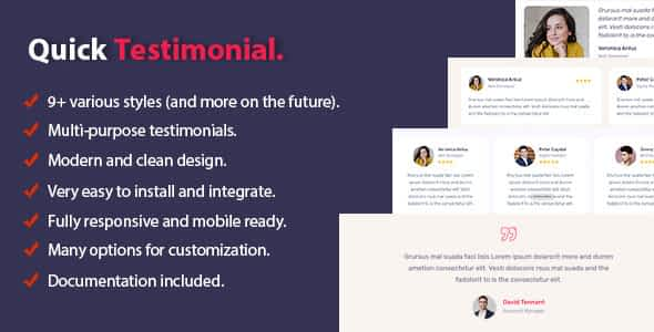 Quick Testimonial Nulled