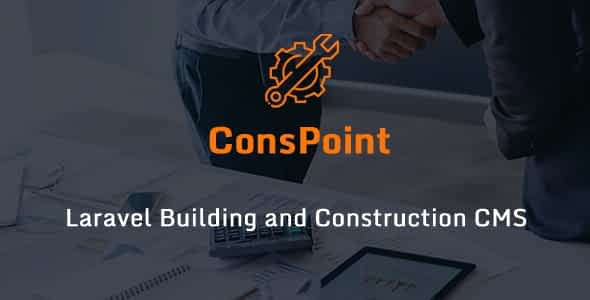 ConsPoint - Laravel Building and Construction CMS Nulled