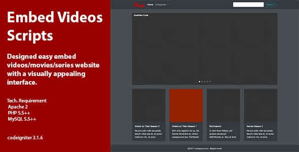 Embed Video Scripts Nulled