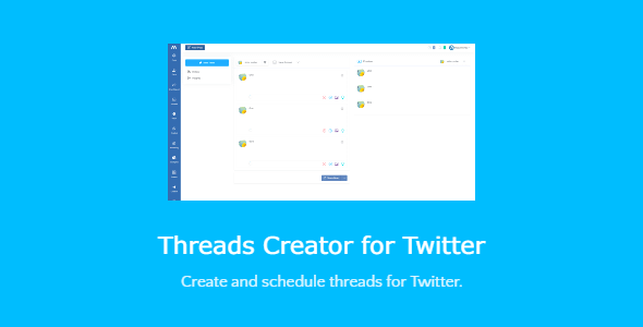 Threads Creator for Twitter - script with SAAS support Nulled