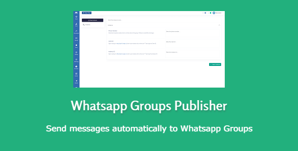 Whatsapp Groups Publisher - send and receive messages Nulled