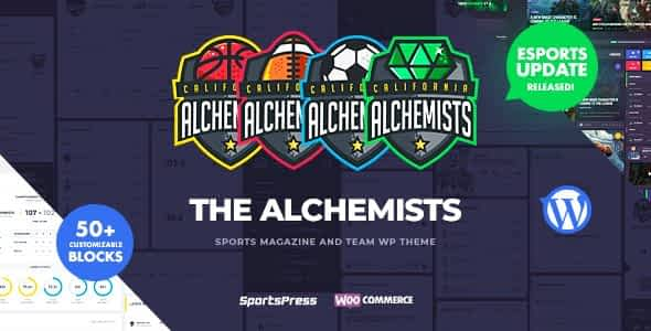 Alchemists - Sports, eSports & Gaming Club and News WordPres... Nulled