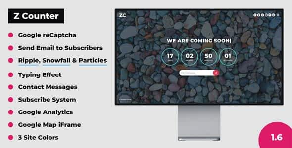 Z Counter - Coming Soon Countdown with Admin Panel Nulled