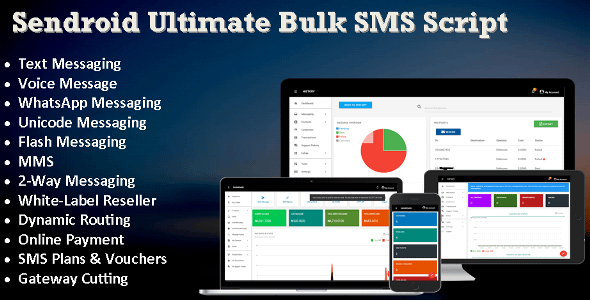 Sendroid - Ultimate  Bulk SMS, WhatsApp and Voice Messaging ... Nulled