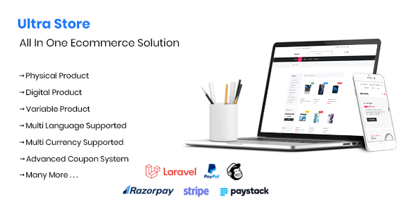 Ultra Store - Laravel All In One Ecommerce Solution Nulled