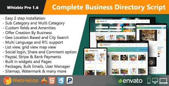 Whizbiz Pro - Complete Business Directory Script Nulled