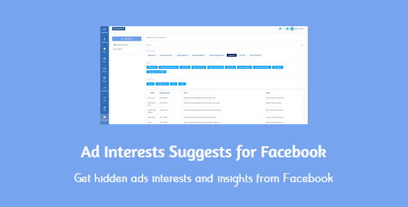 Ad Interests Suggests for Facebook Nulled