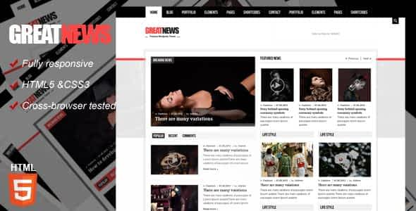 Great News Magazine Responsive Template Nulled