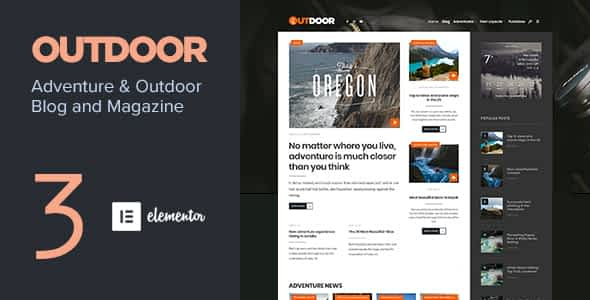 Outdoor - Responsive Adventure Blog and Magazine Nulled