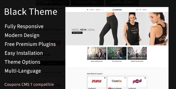 Black Theme for Coupons CMS Nulled
