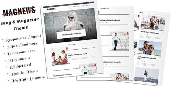 Magnews - Clean Blog and Magazine Theme Nulled