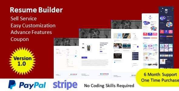 Resume Builder - Build Your Resume & Sell Your Service Nulled