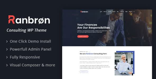 Ranbron - Business and Consulting WordPress Theme Nulled