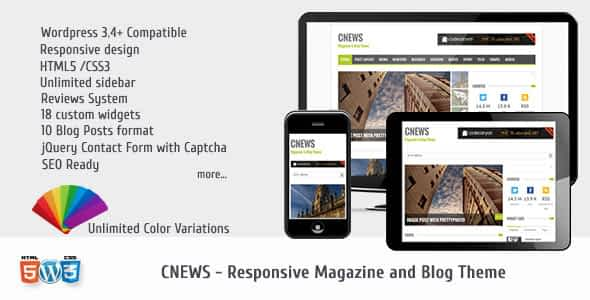 CNEWS - Responsive Magazine and Blog Theme Nulled