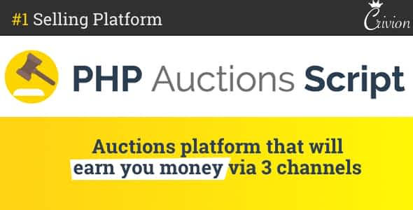 PHP Auctions Script Nulled