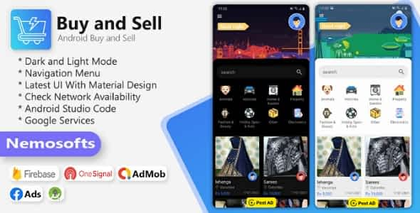 Buy and Sell Android Classified  App Nulled