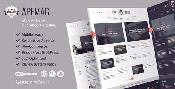 Apemag - Stylish WordPress Theme Magazine with Review System Nulled