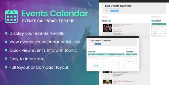 Tiva Events Calendar For PHP Nulled