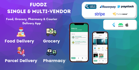 Fuodz – Grocery, Food, Pharmacy Courier Delivery App + Backe... Nulled