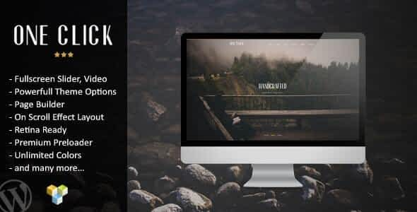 One Click – Parallax One Page Wordpress Theme Nulled
