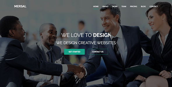 Mersal - One Page MultiPurpose WordPress Theme Nulled
