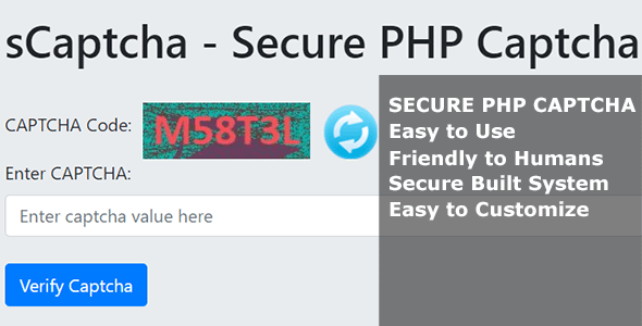 sCaptcha - Secure PHP Captcha Nulled