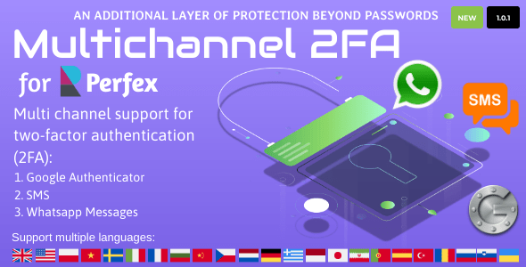 Multichannel Two Factor Authentication for Perfex CRM Nulled