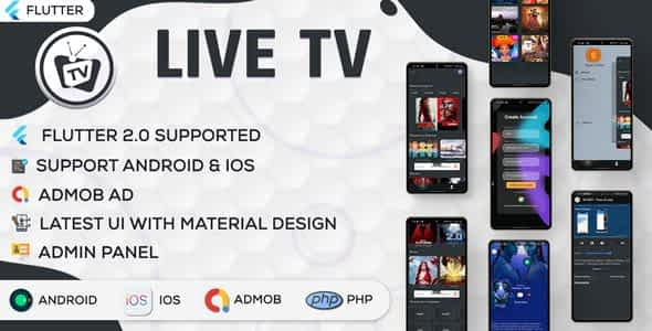 Online Movie and Live TV with Admin Panel   Flutter App   Ad... Nulled